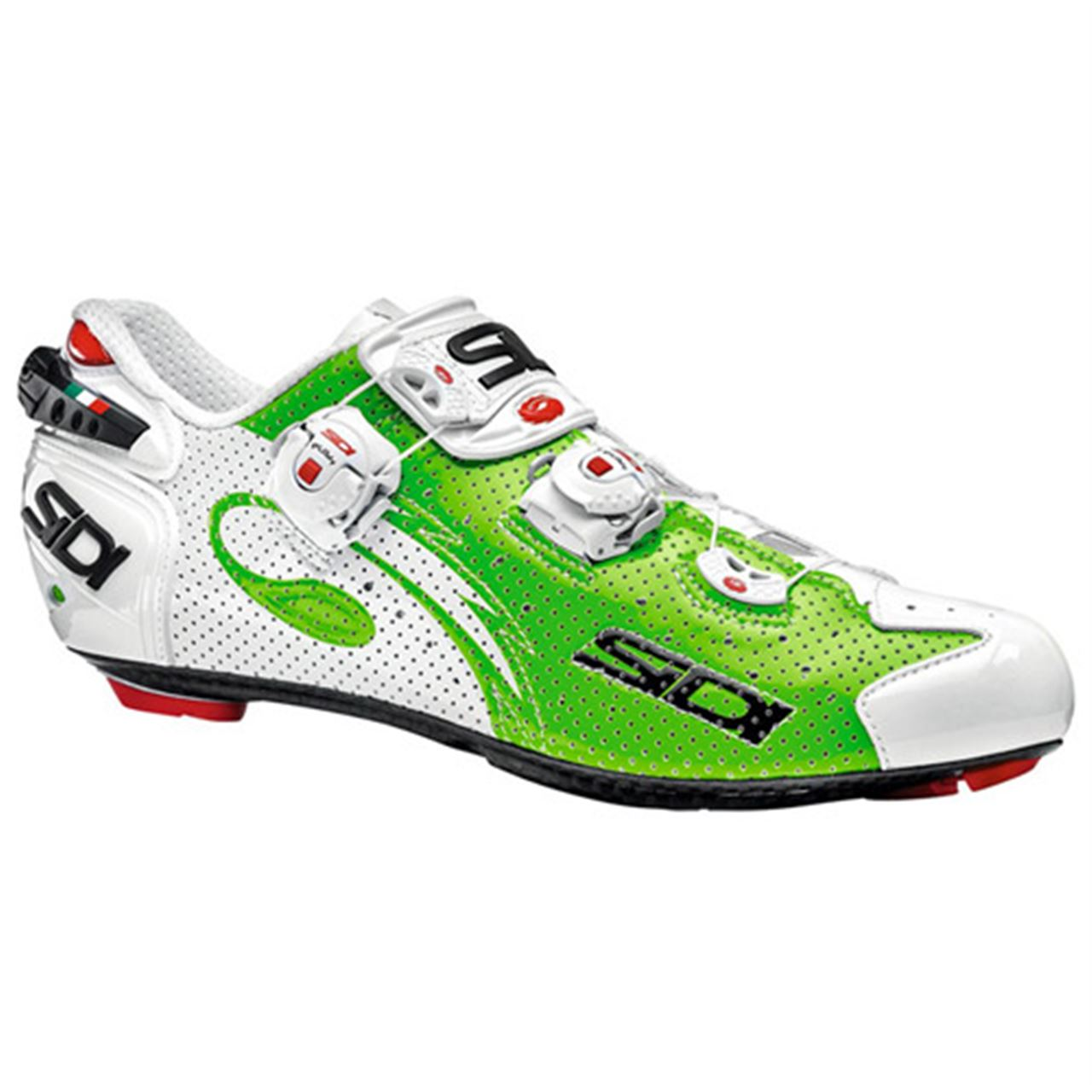 scarpe sidi wire air carbon green fluo